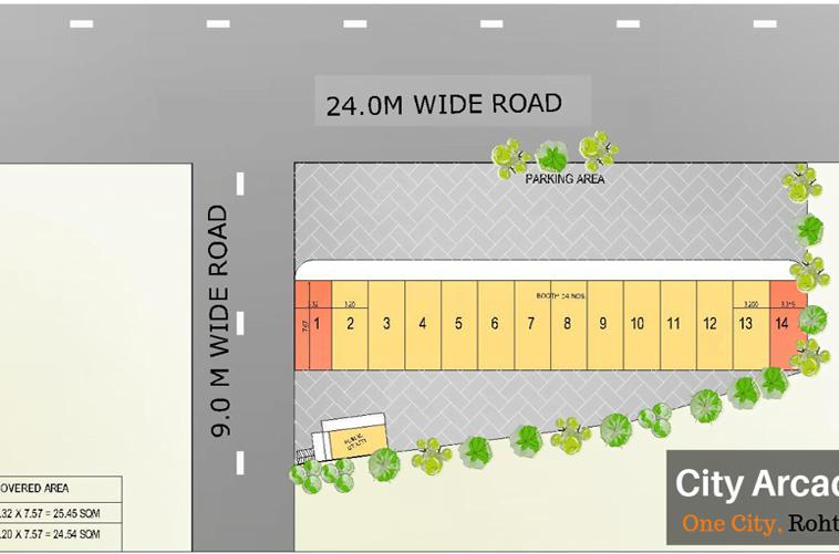City Arcade Layout Plan